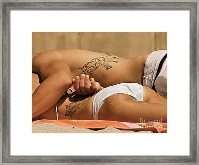 Matching Love Tats Framed Print