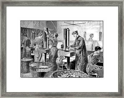 Matchstick Factory Framed Print