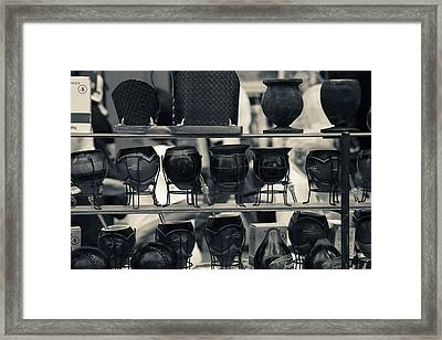 Mate Cups At A Market Stall, Plaza Framed Print by Panoramic Images