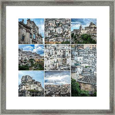 Matera Collage Framed Print by Sabino Parente