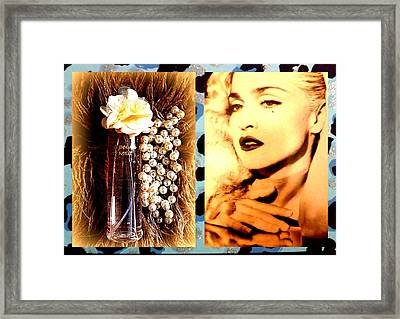 Material Girl Framed Print by The Creative Minds Art and Photography
