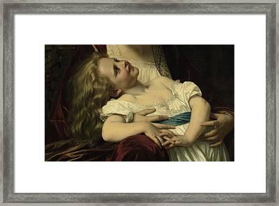 Maternal Affection Detail Framed Print by Hughes Merel
