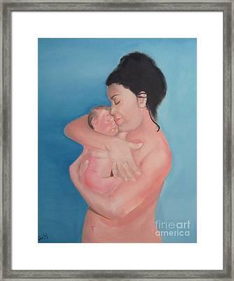 Maternidad / Motherhood Framed Print by Angela Melendez