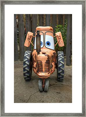 Mater's Tractor Framed Print
