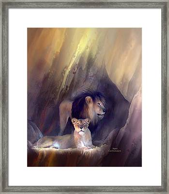 Mates Framed Print by Carol Cavalaris