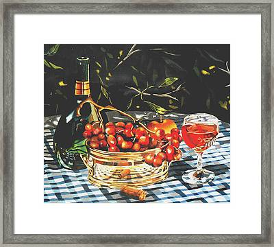 Mateus Rose In Dappled Light Framed Print