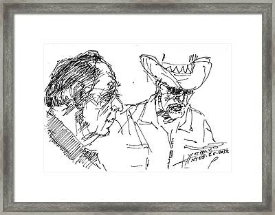 Math Teacher And The Magician Framed Print by Ylli Haruni