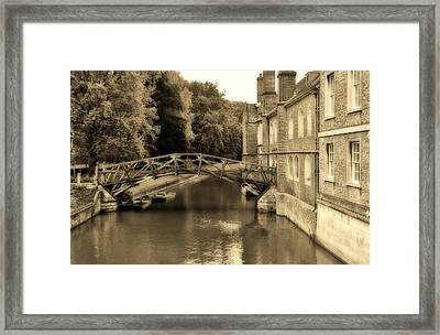Mathematical Bridge Framed Print