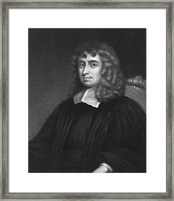 Mathematician Isaac Barrow Framed Print by Underwood Archives