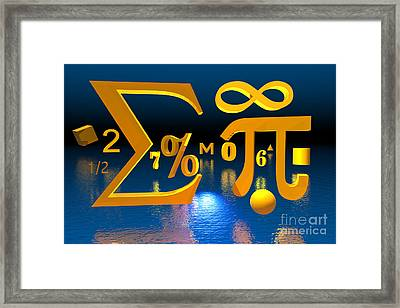 Mathematics Framed Print by Carol and Mike Werner