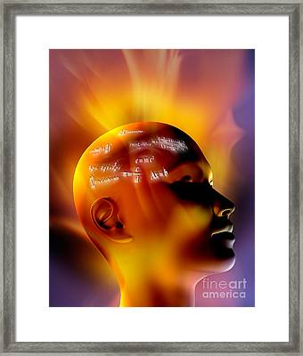Mathematics Framed Print by Mike Agliolo