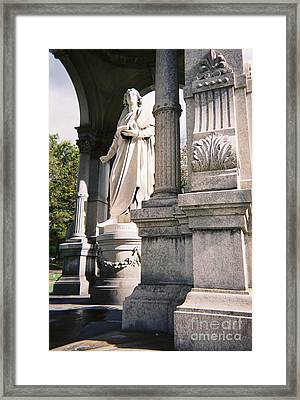 Framed Print featuring the photograph Mather Classical Revival by Peter Gumaer Ogden