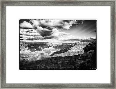 Clouds View From Mather Point  Framed Print by Lisa  Spencer