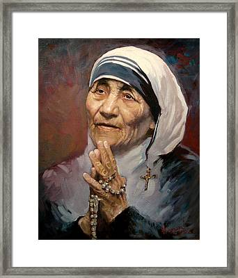 Mather Teresa Framed Print by Ylli Haruni