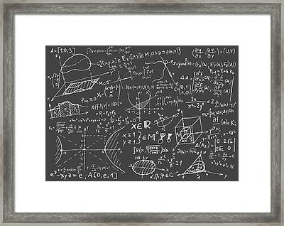 Maths Blackboard Framed Print