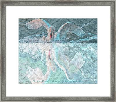 Mating Dance Of The Swan Framed Print by PainterArtist FIN