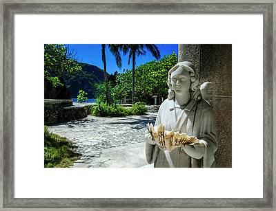 Matinioc Shrine, Bacuit Archipelago Framed Print by Michael Runkel
