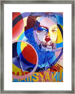 Matisyahu In Circles Framed Print by Joshua Morton