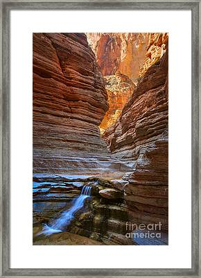 Matkatamiba Cascade Framed Print by Inge Johnsson