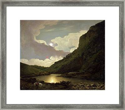 Matlock Tor By Moonlight, Joseph Wright Of Derby Framed Print by Litz Collection