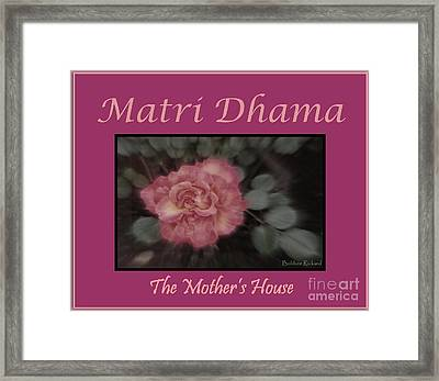 Matri Dhama Design 5 Framed Print