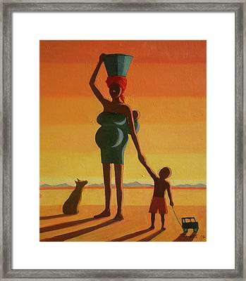 Matriarch, 2004 Oil On Canvas Framed Print by Tilly Willis