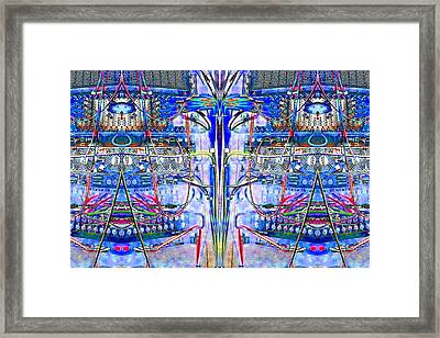 Matrix Blues Framed Print by Marianne Dow