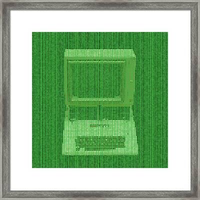 Matrix Computer Framed Print by Dan Sproul
