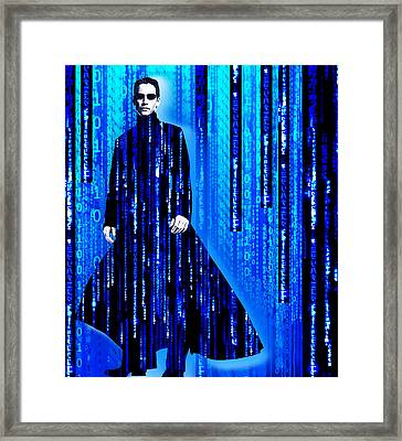 Matrix Neo Keanu Reeves 2 Framed Print