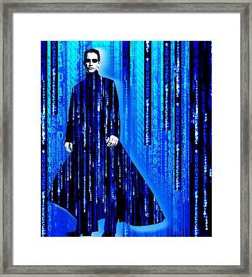 Matrix Neo Keanu Reeves 2 Framed Print by Tony Rubino
