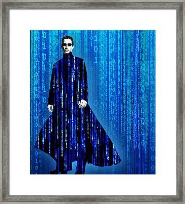 Matrix Neo Keanu Reeves Framed Print