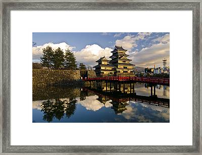 Matsumoto Reflection Framed Print by Aaron Bedell