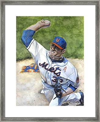 Matt Harvey Framed Print by Michael  Pattison