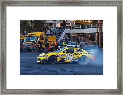 Matt Kenseth Framed Print by James Marvin Phelps