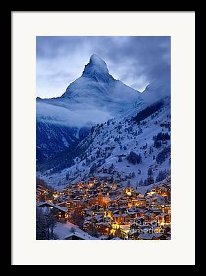 Swiss Landscape Framed Prints