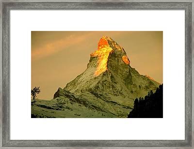 Matterhorn In Switzerland Framed Print