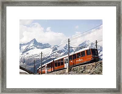 Matterhorn Railway Zermatt Switzerland Framed Print