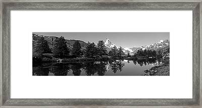 Matterhorn Reflecting Into Grindjisee Framed Print