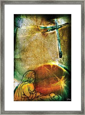 Matthew 1 Framed Print by Switchvues Design