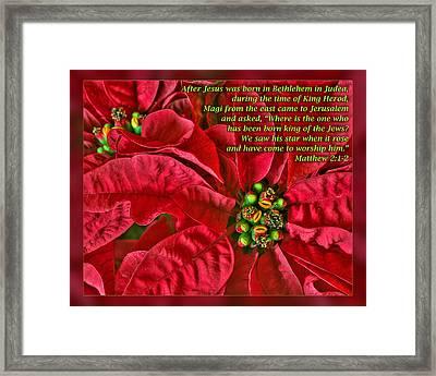 Matthew 2 1-2 Framed Print by Dawn Currie