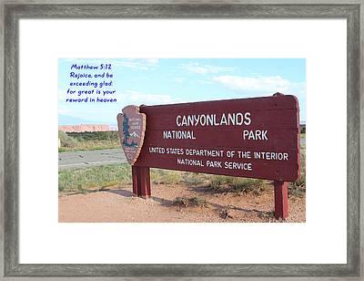 Matthew 5-12 Canyonlands N P Framed Print