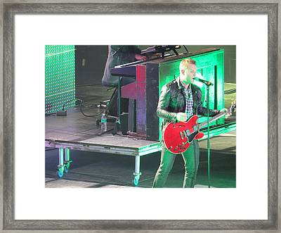 Matthew West At Winterjam Framed Print by Aaron Martens
