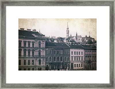 Matthias Church And Vizivaros Framed Print by Joan Carroll