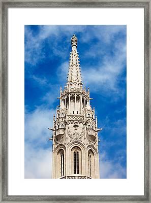 Matthias Church Bell Tower In Budapest Framed Print by Artur Bogacki