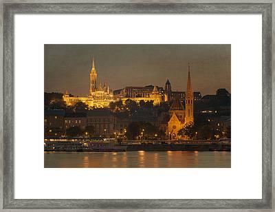 Matthias Church Night Framed Print