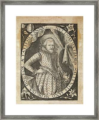 Matthias Untzer Framed Print by Middle Temple Library