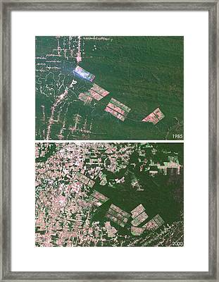 Matto Grosso Deforestation Framed Print by Planetobserver