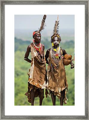 Mature Karo Tribe Women Framed Print