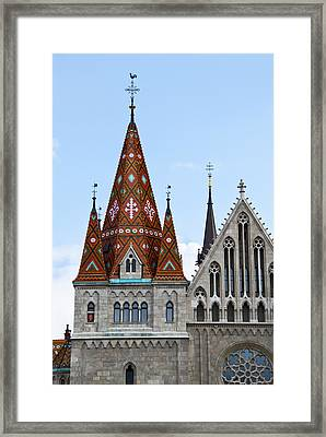 Matyas Church With Glazed Tiles In Budapest Hungary Framed Print