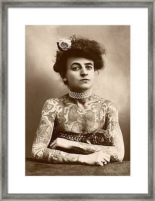 Maud Wagner Framed Print by Library Of Congress